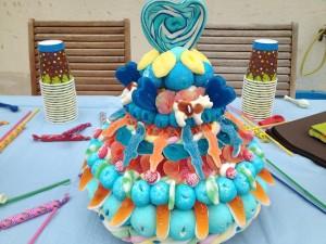 01 Anniversaire de mael gâteau de bonbons